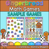 Gingerbread Math Games - 2 Free Sample Games!