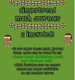 Gingerbread Math Journals