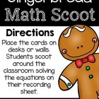 Gingerbread Math Scoot