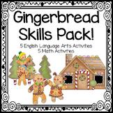 Gingerbread Skills Pack! Math and Language Arts Activities!