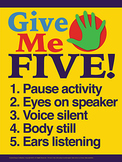 Give Me Five - Instructional Poster (Giclee Print)