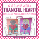 Give Thanks with a Thankful Heart {A Craftivity of Heart-F
