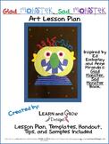 Glad Monster, Sad Monster Inspired Art Lesson