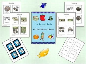 Go Fish Money Game with Coins & Dollars