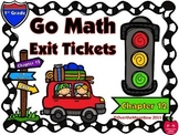 Go Math 1st Grade Exit Tickets – Chapter 12: 2-D Shapes Tw