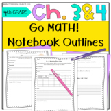 Test Prep Go Math! 4th Grade Notebook CC and I Can Stateme