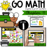 Go Math! Chapter 11 Centers for First Grade