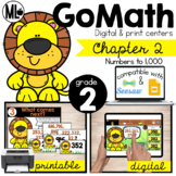 Go Math! Chapter 2 Centers for Second Grade