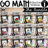 Go Math - Interactive Notebook - A growing BUNDLE - First Grade