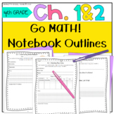 Test Prep Go Math! Notebook 4th Grade CC and I Can Stateme