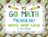 Go Math Vocab Word Wall Cards {All 92 Kindergarten Words}{
