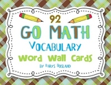 Go Math Vocab Word Wall Cards {All 92 Kindergarten Words}{