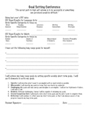 Goal Setting Page for Students