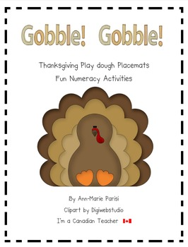 Gobble!  Gobble!  Thanksgiving play dough numeracy