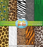 Going Wild Animal Print Digital Scrapbook Pack — Rainfores