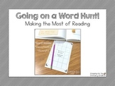 Going on a Word Hunt! (Making Reading Meaningful!)