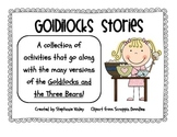 Goldilocks Literacy and Writing Fun!
