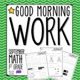Good Morning Work - Math - September (1st Grade)