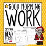 Good Morning Work - Reading - December (1st Grade)