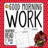 Good Morning Work - Reading - November (1st Grade)