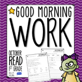 Good Morning Work - Reading - October (1st Grade)