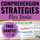 """Good Readers"" Comprehension Strategies Mini Books SAMPLE"