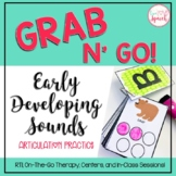 Grab N' Go Early Developing Sounds {Articulation Cards for