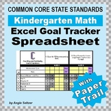 Kindergarten Common Core Math EXCEL Goal Tracker Spreadshe