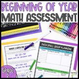 Grade 2: Beginning of Year Math Pre Assessment