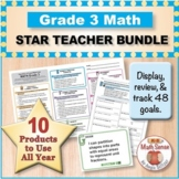 Grade 3 Math STAR TEACHER BUNDLE (Communication, Review, T