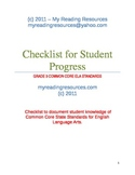 Grade 3 Student Checklist for CCSS  ELA