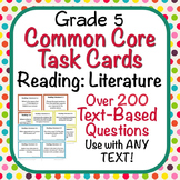 Reading: Literature Task Cards - Grade 5