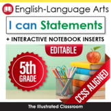 Fifth Grade Common Core Standards Posters I Can Statements - ELA
