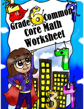 Grade 6 Common Core: Expressions and Equations Math Worksh