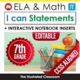 Grade 7 I Can Statements for Common Core Math and ELA
