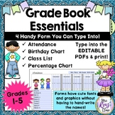 Attendance, Class List, Birthday, Grade Chart ~ Plan Book