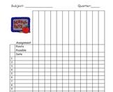 Grade Book Sheet