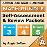 Grades 3-4-5 CCSS Math Self-Assessment and Review BUNDLE