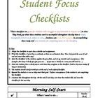 Student Focus Checklist
