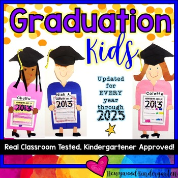 Graduation Kids!  Adorable End of the Year Writing/ Craftivity!