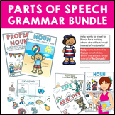 Grammar Bundle of 6 Packs of PowerPoints Worksheets and Ac