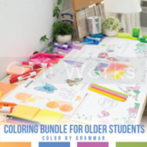 Grammar Coloring Sheet Bundle: Flowers