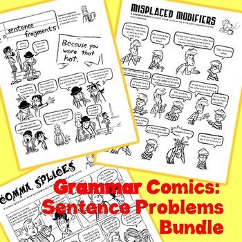 Sentence Problems Bundle: Grammar Comics