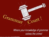 Grammar Court: Episode 1. A fun Grammar activity & game ab
