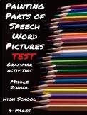Grammar: Parts of Speech Word Pictures Test