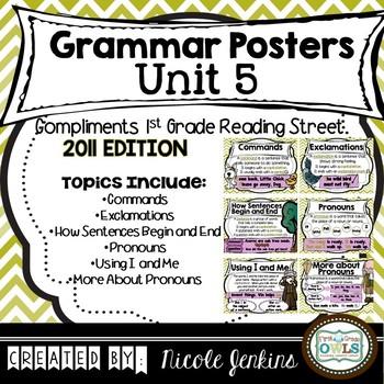 Grammar Posters Reading Street Unit 5 - 2011 Version