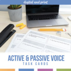 Active and Passive Voice Task Cards