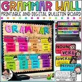 Grammar Wall Bulletin Board Set -Editable {Melonheadz Edition}