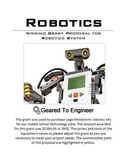 Grant: Winning Proposal for LEGO Mindstorm Robotics Kits