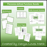 Graphing Piecewise Defined Function~Activity~Practice Page